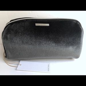 Grey velvet kestrel pencil bag